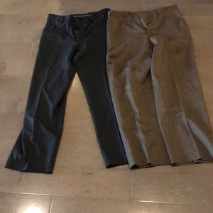 2 pairs 32x30 men's brown and black straight leg